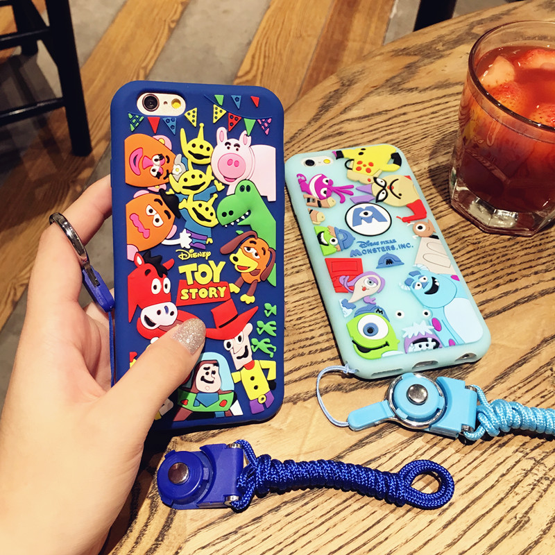 HTB13ZE2RFXXXXcrXXXXq6xXFXXXF - Ariana Grande Monster university Phone Case for iPhone7 7plus all-inclusive protective sleeve halter rope 6plus lovely soft silicone women PTC 219