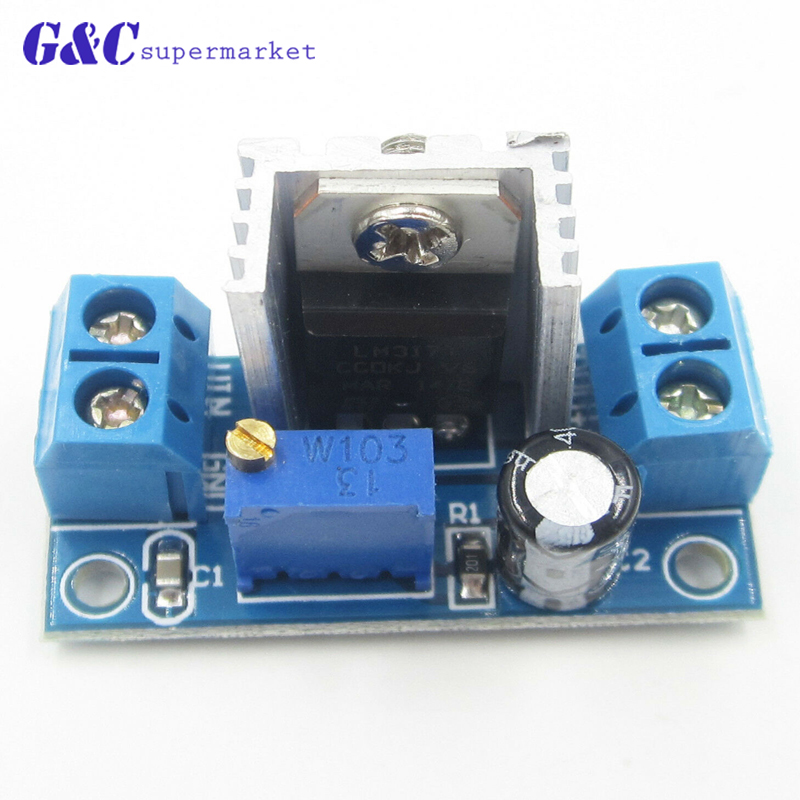 1 PCS LM317 DC Linear Regler DC-DC 4,5 ~ 40 V Drehen 1,2 ~ 37 V Step Down Power Module einstellbar