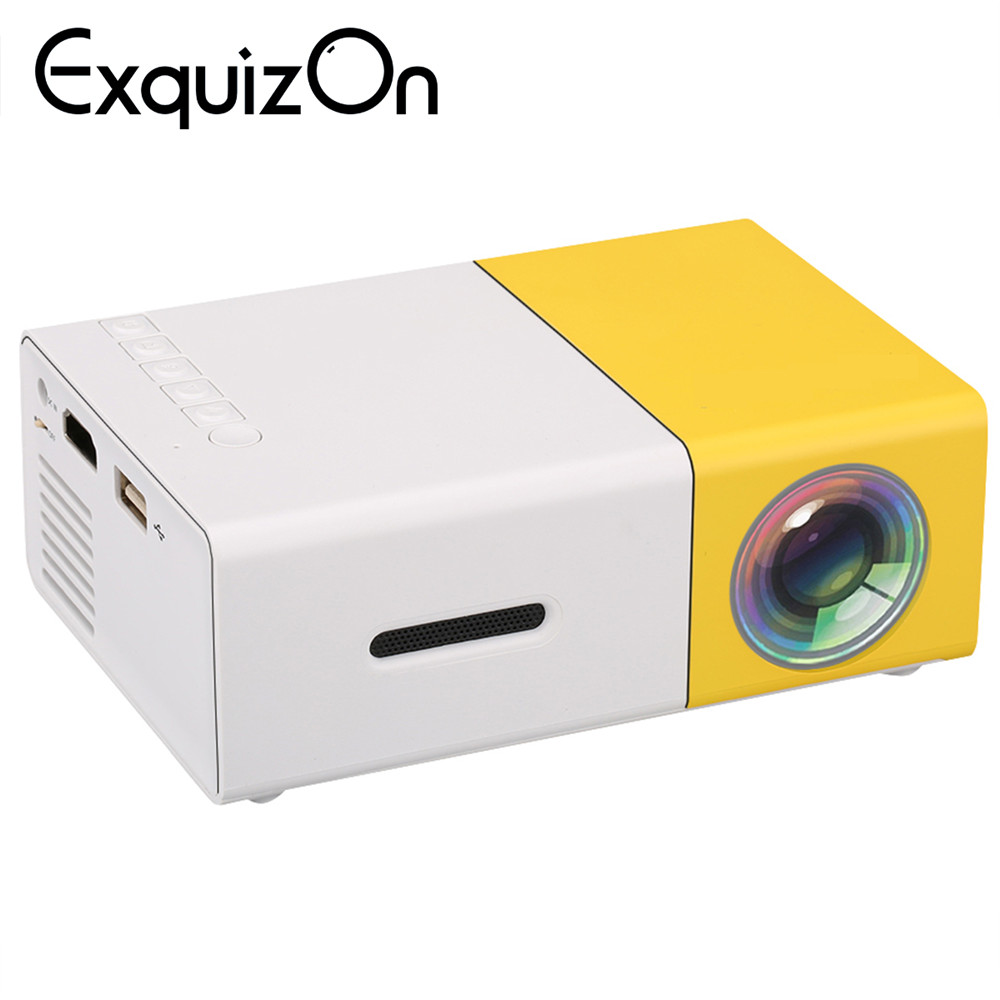 Мини yg300 ЖК-дисплей проектор домашнего кинотеатра с 3.5 мм аудио/HDMI/USB/SD входы 400-600 люмен 320x240 Пиксели media proyector