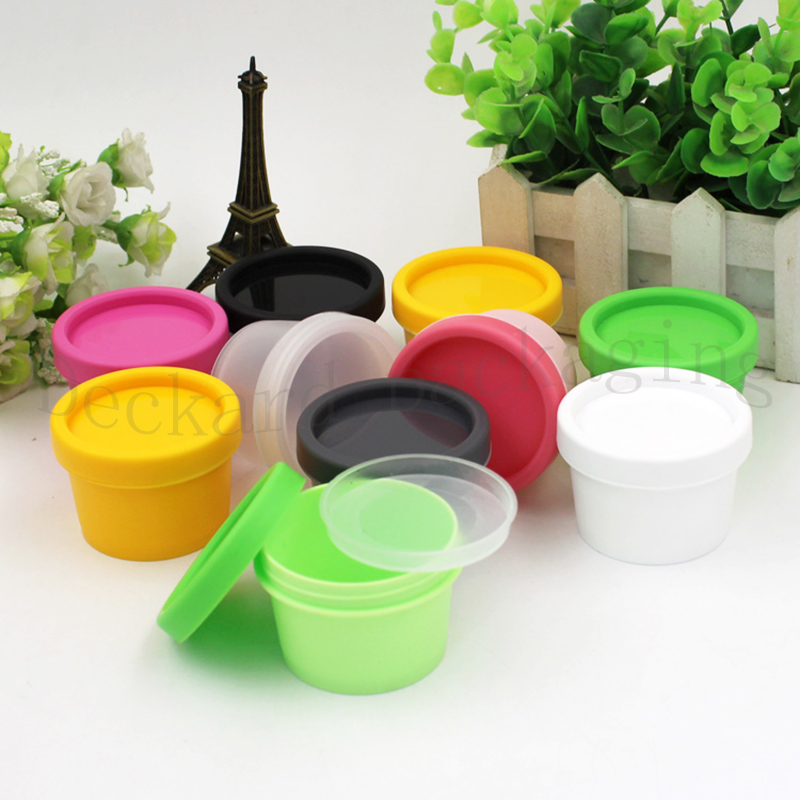 Breeze 100pcs 50g 100g Face Cream Jars Pot Colorful Plastic Empty Cosmetic Containers 50ml 100ml Cosmetic