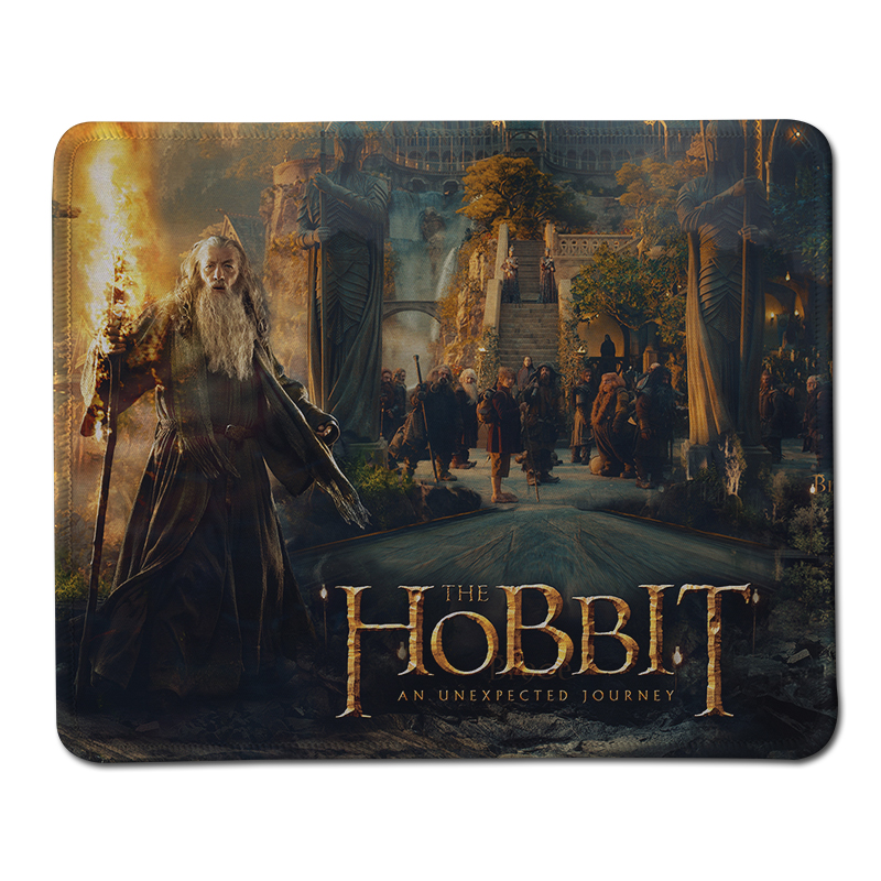 New Hobbit Print Stitched Edge Computer Mouse Pad Anti-Slip Rectangle Rubber Mousepad Gift Gaming Speed Mice Mats