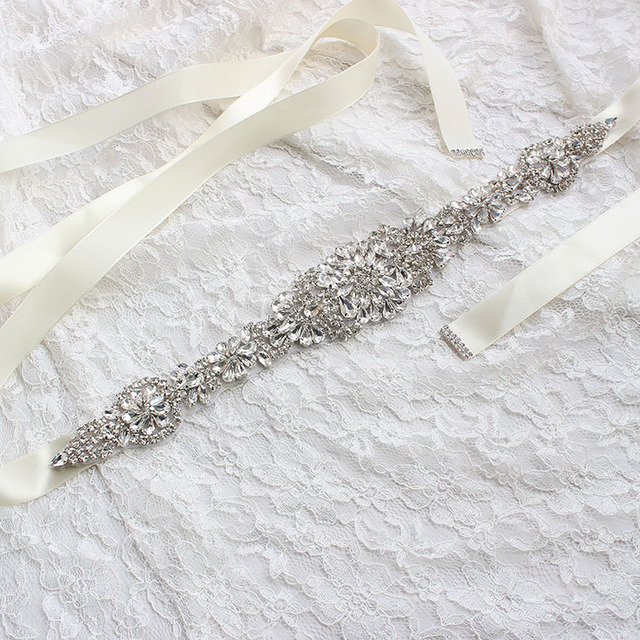 270Cm*2CM Womens Wedding Sash Elegant Rhinestone Satin Ribbon Bridal Belts Bride Bridesmaid Belt Dress Cummerbunds Waistband