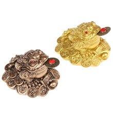 1 pçs chinês fortuna sapo feng shui sorte três pernas dinheiro sapo escritório em casa loja de negócios decoração artesanato presente