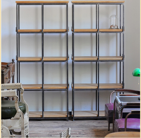 Libreria Ferro E Legno. Elegant Libreria Steve In Ferro E Legno ...