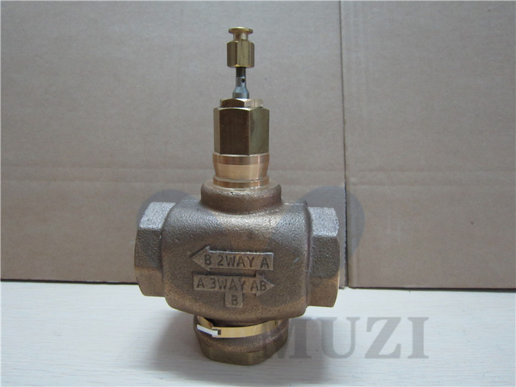 V5011P2010 Electric two - way steam regulating valve thread valve copper DN40 220v dirve actuator electric two way regulating valve proportional integral valve for central air conditioning