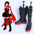 Freeshipping Anime RWBY Ruby Rose Cosplay Boots Shoes Version 2 Hand-Made For Halloween Christmas