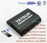 Yatour YT-BTA Bluetooth głośnomówiący Rozmowy Telefonicznej dla VW Audi Skoda fotelik Samochodowy odtwarzacz audio muzyka mp3 AUX Quadlock A2DP muzyka adapter