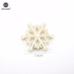 Image 3 - それではベビーおしゃぶりパールホワイト雪片クリスマスペンダント 10pc かむ透明 DIY ジュエリー看護ネックレスおしゃぶり