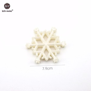 Image 3 - Lets Make Baby Teether Pearl White Snowflakes Christmas Pendants 10pc Can Chew Transparent DIY Jewelry Nursing Necklace Teether