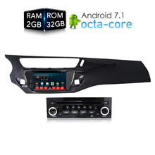Android 7.1.1 RAM2G Автомобильный DVD стерео Player gps ГЛОНАСС мультимедиа для Citroen C3 DS3 2010-2016 авто радио аудио-видео