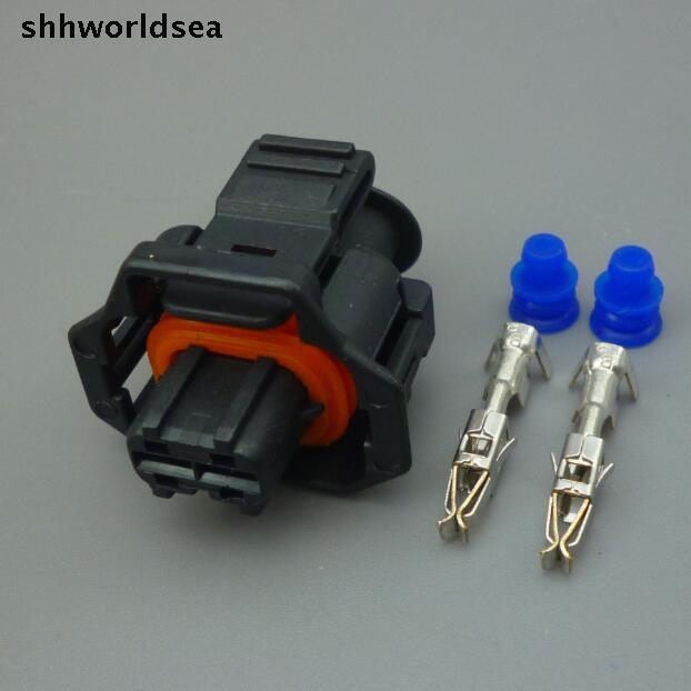 imágenes para Shhworldsea 10 Sets 2Pin 2 pin coche Enchufe Impermeable diesel common rail inyector auto pin conector de terminal de enchufe del sensor del cigüeñal
