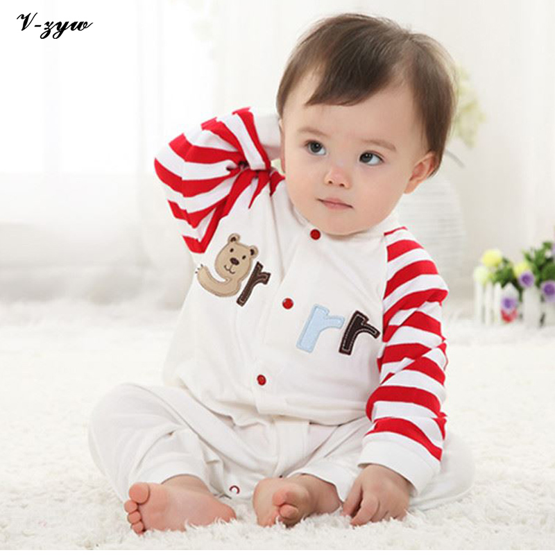 Strip Baby Rompers Long Sleeve Baby Boy Clothing Jumpsuits Children Autumn Clothing Set Newborn Baby Clothes Cotton Baby Rompers baby rompers long sleeve baby boy girl clothing jumpsuits children autumn clothing set newborn baby clothes cotton baby rompers