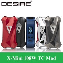 Desire X Mini 108W TC Mod Vape E Cigarette 18650 21700 Battery Box Mod Vs Voopoo Drag Mini Vaporizer Electronic Cigarette(China)