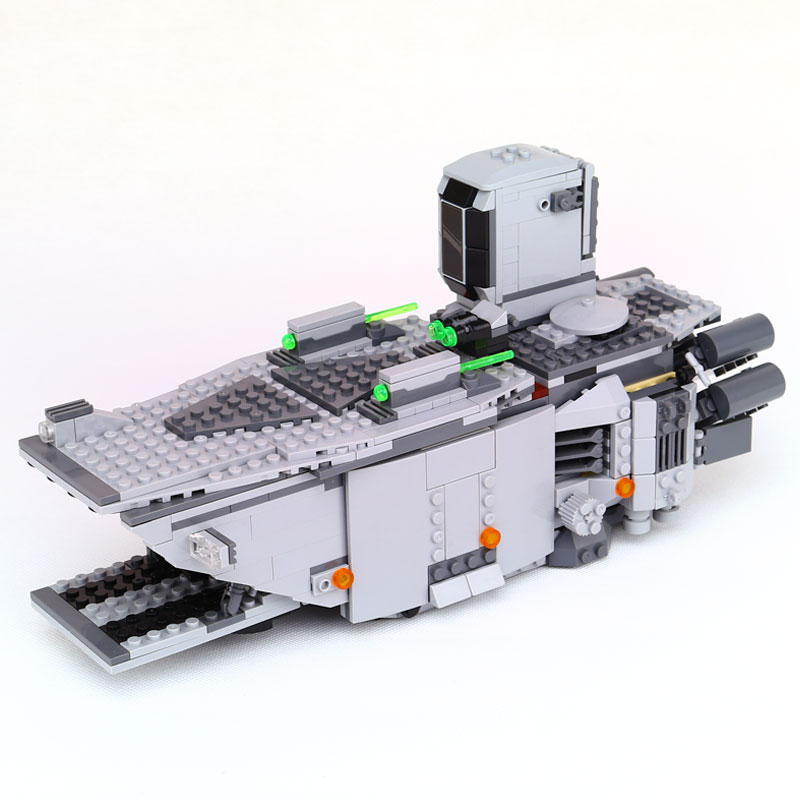 New Lepin 05003 845Pcs Star series plan First Order Transporter assembled building block Bricks Compatible With Legoinglys 75103 new 845pcs star wars first order transporter model building blocks bricks toys compatible with legoingly starwars children model