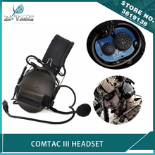 Z-Tactical Airsoft Aviation Comtac III Headset C3 Peltor Noise Canceling Headphone Softair Military Hunting Earphone цена 2017