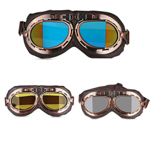 Urbanroad 1PCS Motorcycle Bicycle Ski Goggles Goggles Retro Aviator UV Protection Copper For Harley Protection Eyewear