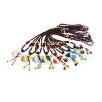 Gratis verzending-hartvormige glas aromatherapie essentiële olie ketting hanger crystal hanger kristallen parfumflesje