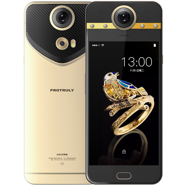 PROTRULY D8 1920*1080 5.5 FHD AMOLED 36 Degrés VR Mobile Téléphone 4g LTE Helio x20 Deca core RAM 4 gb ROM 64 gb 16MP OTG Smartphone