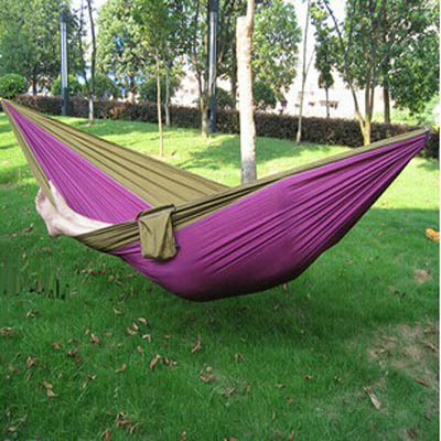 Free Shipping Outdoor Double Hammock Camping Survival