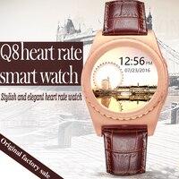Akıllı İzle Q8 Kalp Hızı monitörü Bluetooth Smartwatch Anti kayıp Pedometre Arama Kol Saati Için Android IOS Telefon PK U8 GV18