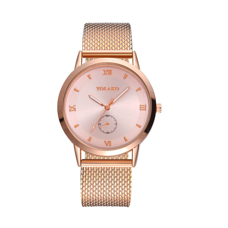 Permalink to New Ultra-thin Women's Watch 2019 Lover's Watch Luxury Saat Rose Gold Mesh Stainless Steel Women's Watches Female Male Clock AA5