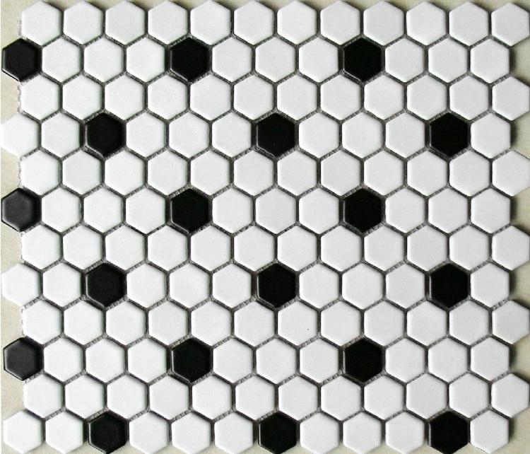 Aliexpress com Buy classic black mixed white hexagon ceramic mosaic tiles  for bathroom shower wall and. Black And White Hexagon Bathroom Floor Tile