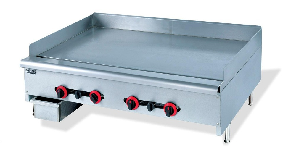 Gas Fryer With Griddle Gas ~ High quality full stainless steel commerial table top flat