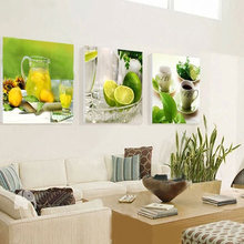 3 Panel Modern Printed Fruits Lemon Painting Picture On Canvas Kitchen Decor Cuadros Landscape For Living