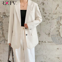 RZIV Spring women's suit casual solid color single breasted suit