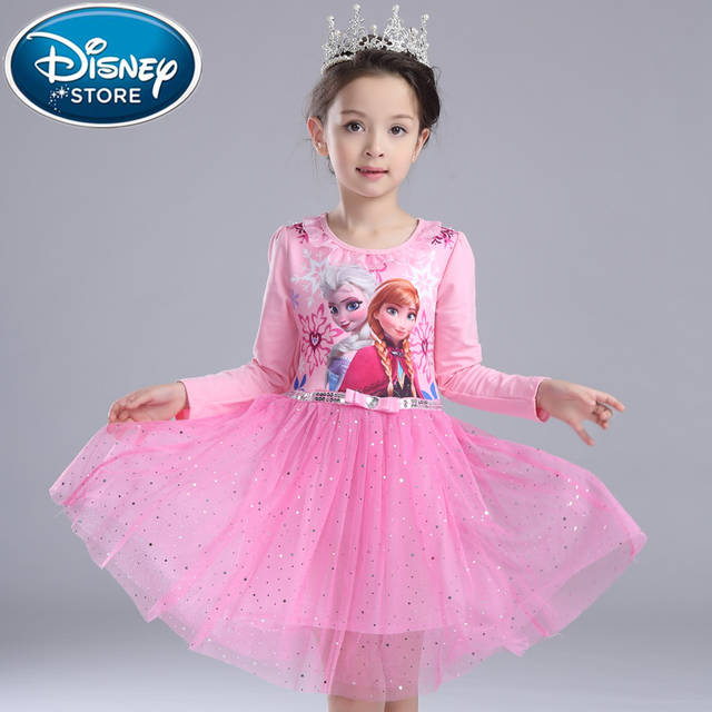 924cc076d21d Disney Frozen dress elza children's Snow White gauze frozen princess  birthday surprise girl christmas anna dress
