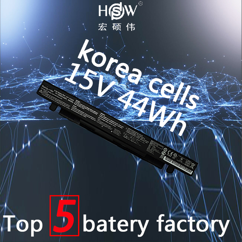 HSW Battery 15V 44WH for Asus X550C X550B X550V X550a A41 X550A LAptop battery bateria akku in Laptop Batteries from Computer Office