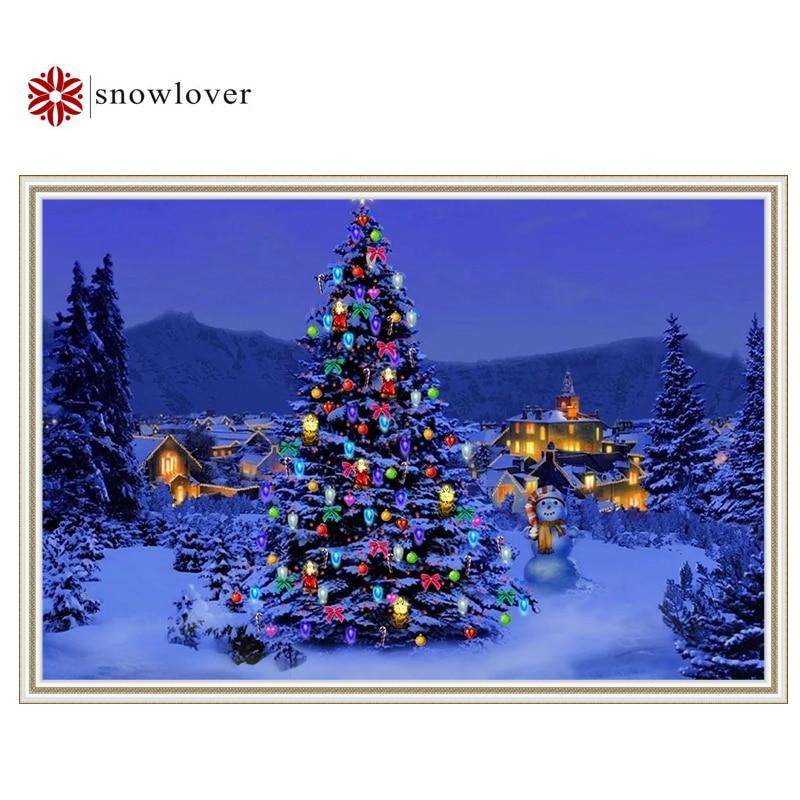 Christmas Tree Shop Connecticut: Snowlover Cross Stitch Christmas Tree DIY Handmade 3D