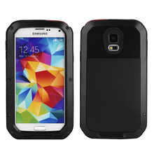 Metal Extreme Shockproof Military Heavy Duty Tempered Glass Cover Case Skin For Samsung Galaxy S5 G9006V Full-Body Waterproof