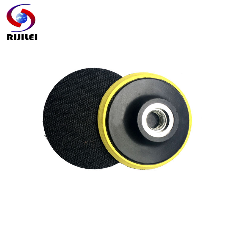 (3HF)Free shipping 3inch M10/M14 Rubber Backer Pad Polishing Machine self-adhesive polishing discs granite polishing pad tool  цены