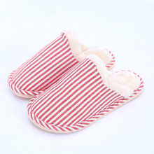 Slippers Women 2019 Solid color stripes Indoor House plush Soft Cute Cotton Slippers Shoes Non-slip Floor Home Slippers TUX54 цена 2017