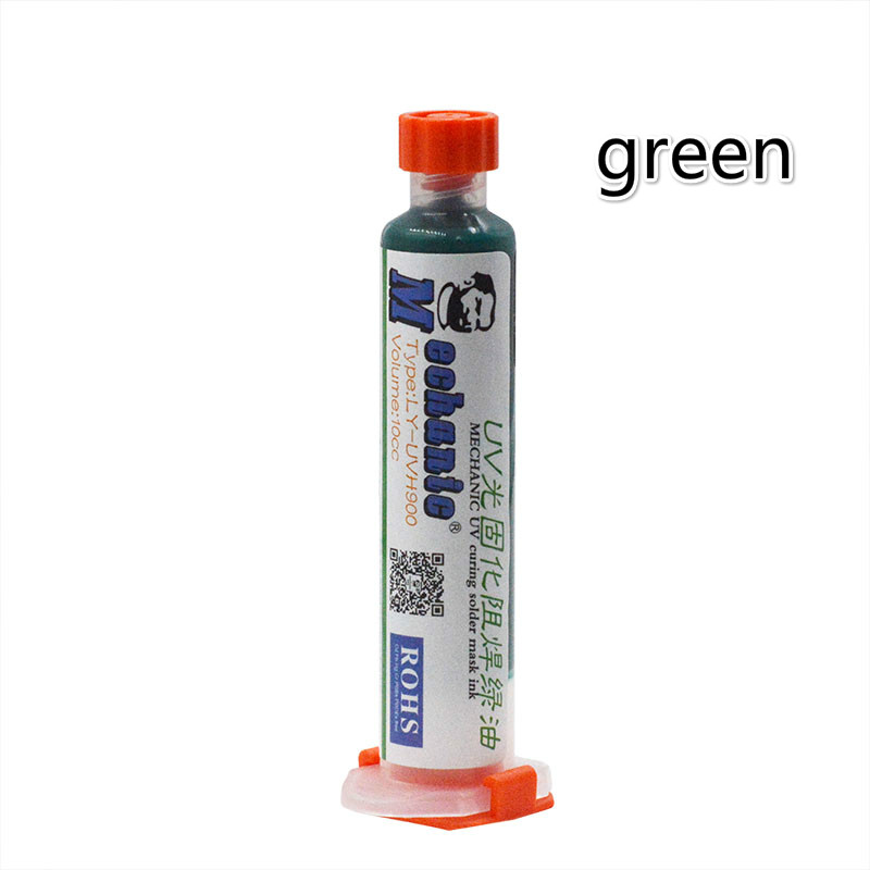 Green UV Curable Solder Mask 10CC For PCB BGA Circuit Board Protect Soldering Paste Flux Cream Welding Fluxes Oil