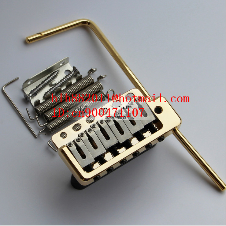 free shipping new single wave electric guitar bridge in gold  WVP6    L26 free shipping new electric guitar jade tuning peg in gold guitar button wj44 n22