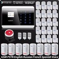 Wireless PSTN GSM Alarm System Security Alarm For Home App ISO Wireless Motion Sensor Door Sensor
