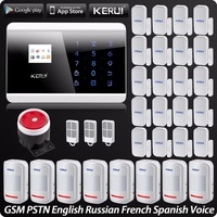 Wireless PSTN GSM Alarm System Security Alarm For Home App ISO Wireless Motion Sensor Door Sensor English Russian French Spanish