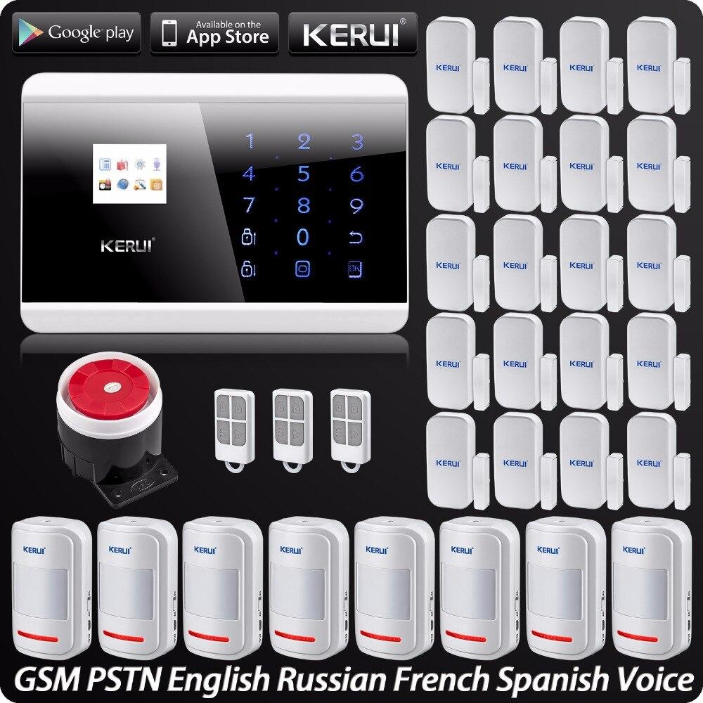 Sans fil PSTN GSM Système D'alarme de Sécurité D'alarme Pour La Maison App ISO Sans Fil Motion Sensor Porte Capteur Anglais Russe Français Espagnol