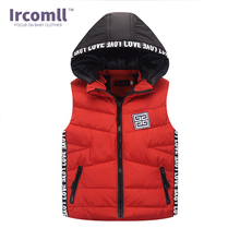 2018 Autumn and Winter Children Vest Duck Down Warm Hooded Coat Boy Girl Outwear Infant sleeveless Jacket Cotton Kid Clothe недорого