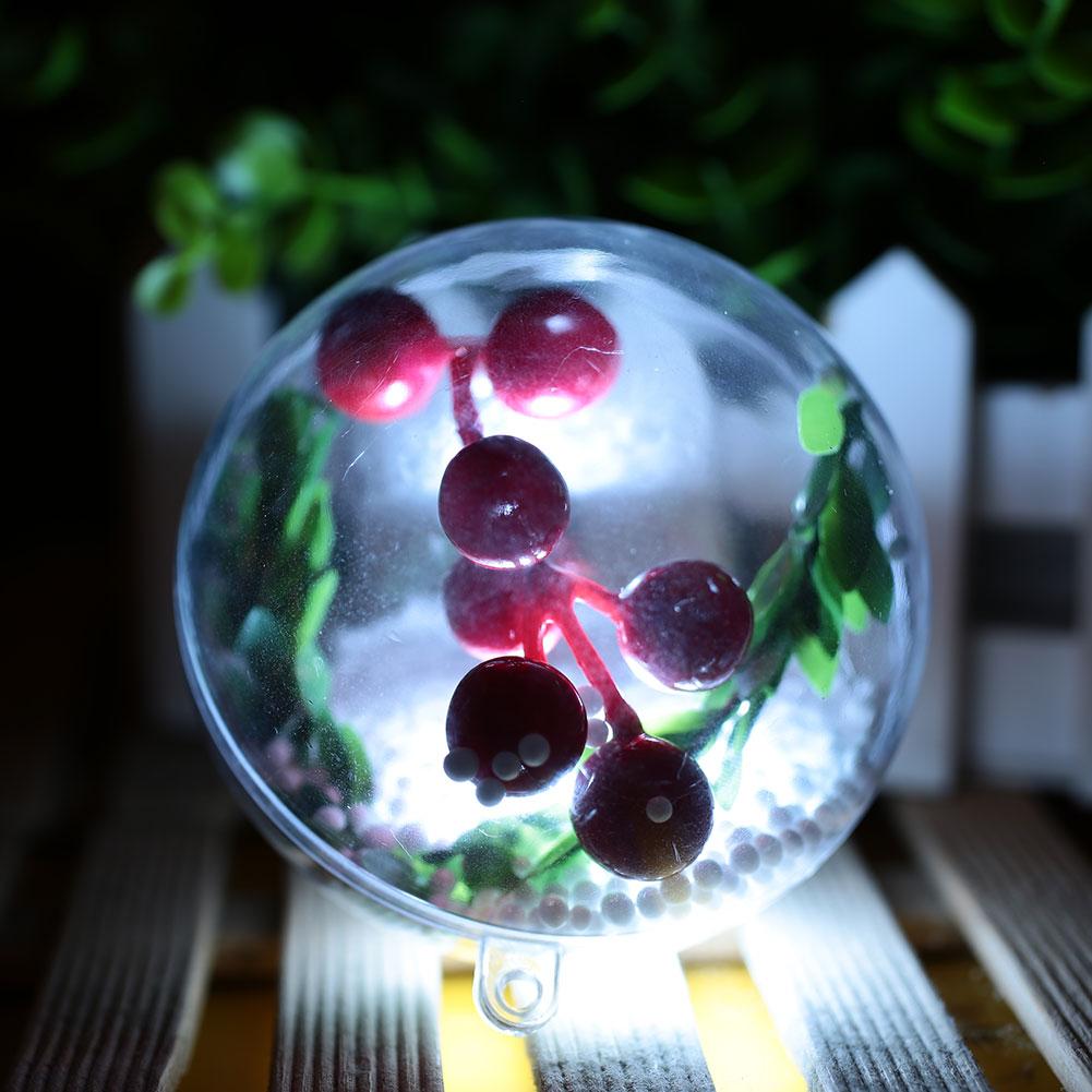 Светящийся Рождественский светящийся шар, блестящий настенный светильник для отеля, для свадебной вечеринки, домашний декор, Рождественская елка, подвеска, сделай сам, Рождественский шар, Декор - Цвет: white lights