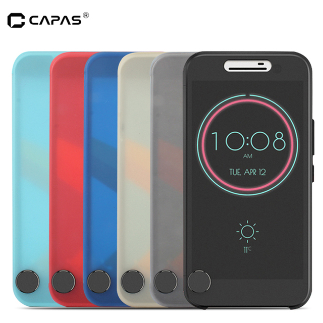 purchase cheap 88115 2926d US $4.88 10% OFF|for HTC 10 Ice View Case Big Window Flip Cover for HTC One  M10 Lifestyle Protective Housing Touchable Visible Front Black Case-in ...