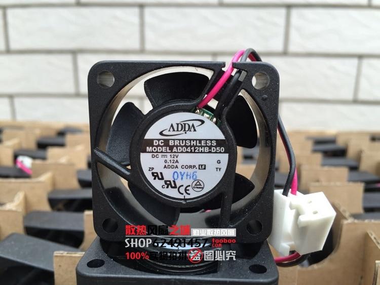 ADDA AD0412HB-D50 4015 40*40*15 мм DC 12 В 0.12A Сервер вентилятор охлаждения
