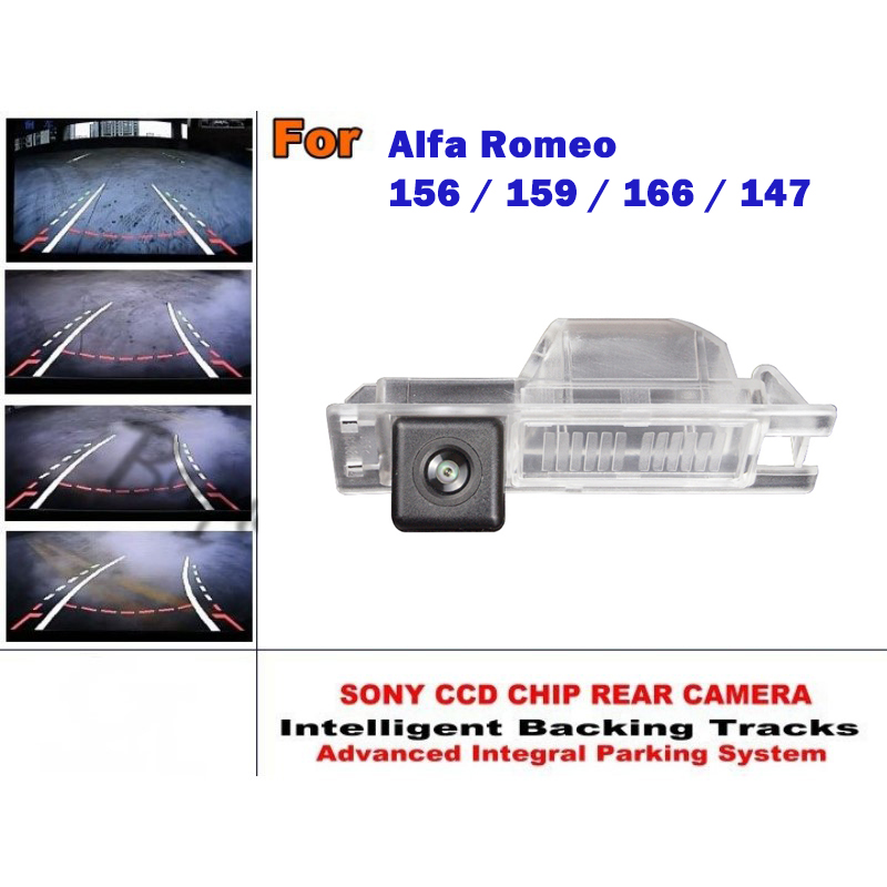 For Alfa Romeo 156 / 159 / 166 / 147 Smart Tracks Chip Camera / HD CCD Intelligent Dynamic Parking Car Rear View Camera for mercedes benz c class mb w205 2014 2016 smart tracks chip camera hd ccd intelligent dynamic parking car rear view camera