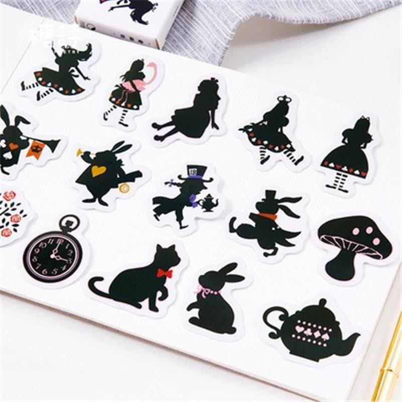 45 Pcs Set Kartun Hitam Putih Tanaman Sticker Anak Mainan Populer Anime Stiker Pack Untuk Anak Anak Diy Buku Laptop Telepon Stiker Aliexpress