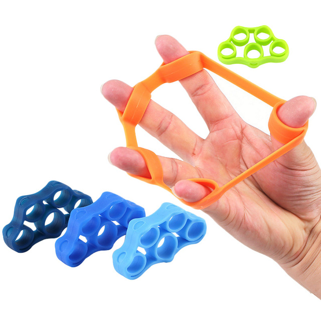 6pcs Finger resistance Stretching bands Hand Gripper Forearm Wrist Training
