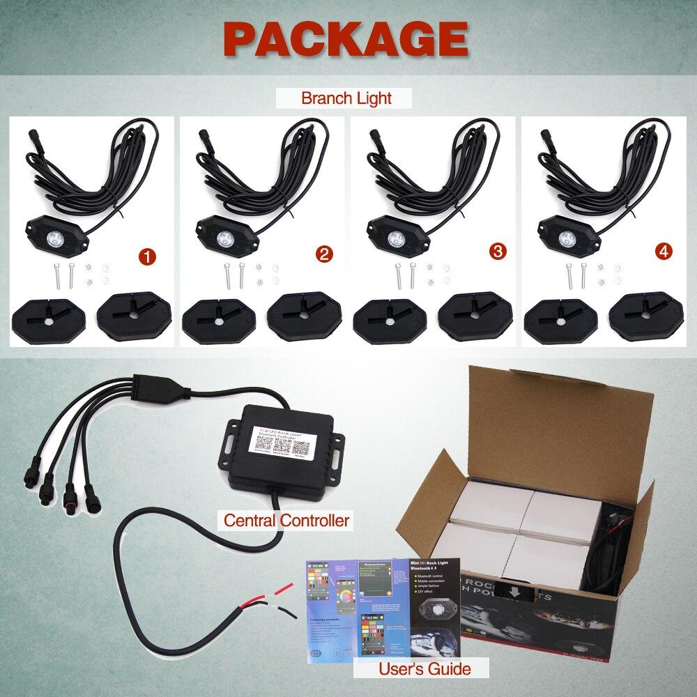 CO LIGHT 4 hüvelyes RGB futófény Bluetooth vezérlővel Távoli - Autó világítás - Fénykép 5