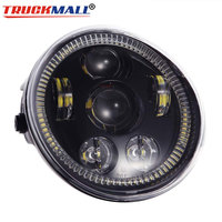 New DRL Angel Eye LED Headlight with Halo Ring Daytime Running Light For Motorcycle VRSCA V Rod VRod Night Rod Special