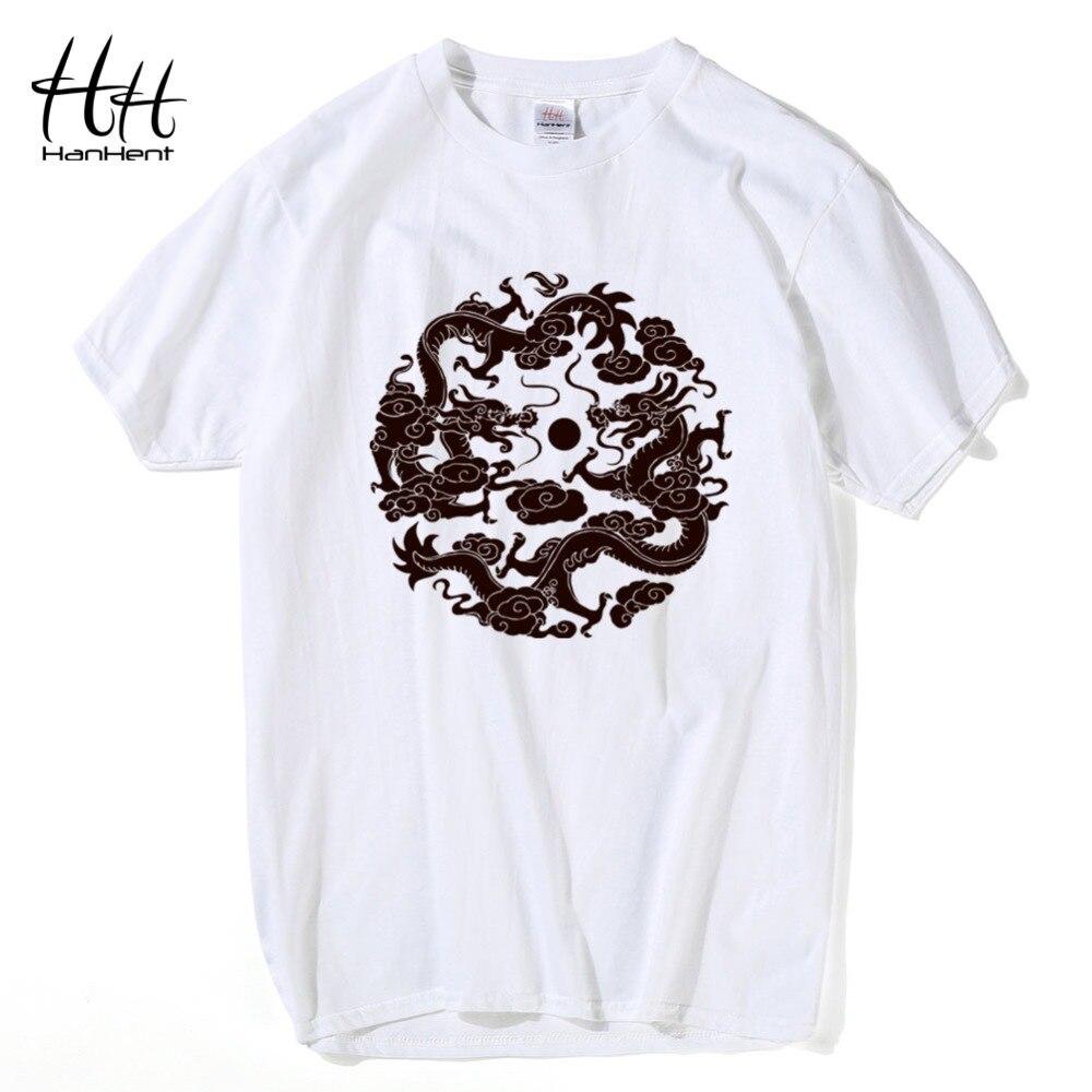 Design t shirt china - Hanhent Chinese Dragon T Shirts Men S Fashion Printed T Shirt China Totem Swag Loose Cotton T Shirts Short Sleeve S M L Xl Xxl